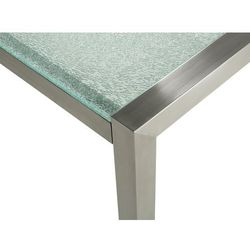 Beliani Stół ogrodowy szkło hartowane 180 x 90 cm dzielona płyta grosseto (4251682205412)