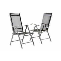 Komplet 2 x krzesła rozkładane – czarne