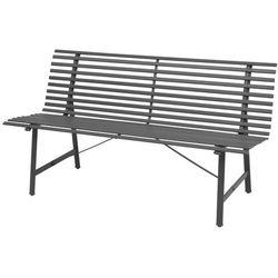 vidaXL Ławka ogrodowa ze stali, 150x62x80 cm, antracytowa (8718475503347)