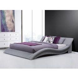 Łóżko tapicerowane 180x200 cm w kolorze szarym - ze stelażem - VICHY - sprawdź w Beliani