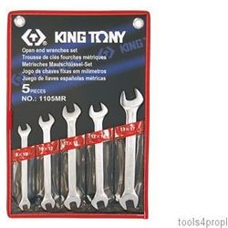 ZESTAW KLUCZY PŁASKICH 5cz. 8 - 17mm King Tony 1105MR