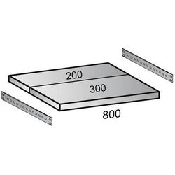 Półka do przemysłowego regału wtykowego, szer. półki 800 mm, gł. 500 mm. wartośc marki Unbekannt