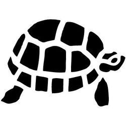 Szablon malarski z tworzywa, wielorazowy, wzór morski 4 - żółw marki Szabloneria