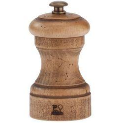 Młynek do pieprzu z drewna bukowego 100 mm, naturalny postarzany | , antique marki Peugeot