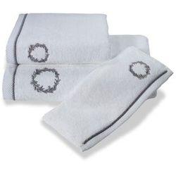 Soft cotton Ręcznik sehzade 50x100cm biały / srebrny haft