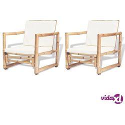 vidaXL Krzesła ogrodowe, 2 szt, bambus, 60x65x72 cm