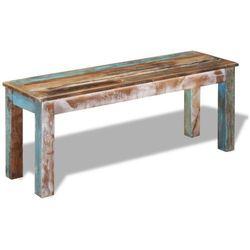 vidaXL Ławka z odzyskiwanego drewna 110x35x45 cm