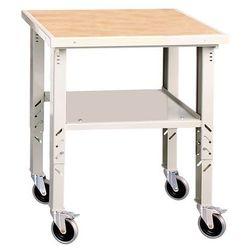Mobilny stół warsztatowy o regulowanej wysokości