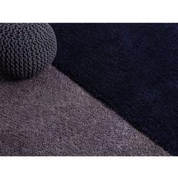 Dywan granatowy - 120x170 cm - shaggy - poliester - edirne marki Beliani