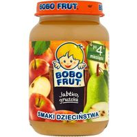BOBO FRUT Jabłko gruszka 4m+ (185 g) – deserek
