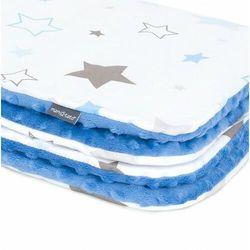 Kocyk minky dla niemowląt i dzieci 75x100 - gwiazdozbiór niebieski/ jeans marki Mamo-tato