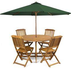 Fieldmann  meble ogrodowe holly + parasol zielony