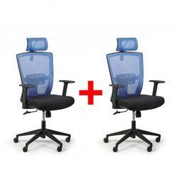 B2b partner Fotel biurowy fantom 1 + 1 gratis, niebieski