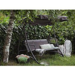 Huśtawka szara - meble ogrodowe - stal - ławka - BOGART (7081458520763)