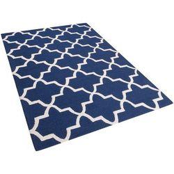Dywan niebieski wełniany 140x200 cm SILVAN
