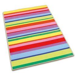 Dywan w kolorowe paseczki do pokoju dziecka marki Erzi