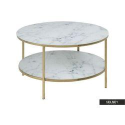 stolik kawowy alisma z półką o średnicy 80 cm marki Selsey