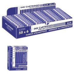 Starpak, naboje do piór wiecznych dla leworęcznych, krótkie, niebieskie, 6 szt. - sprawdź w wybranym sklepie