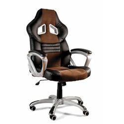 Fotel gamingowy, biurowy, dynamiq V15, czarny, brązowy (5908242408354)