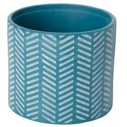 Doniczka ceramiczna GoodHome ozdobna 14 cm niebieska, C26
