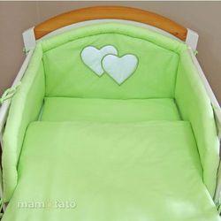 MAMO-TATO pościel 2-el Zielona do łóżeczka 70x140cm