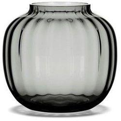Szklany wazon Primula, szary, niski - HolmeGaard