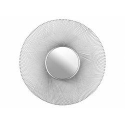 Okrągłe druciane lustro w designerskim stylu coba - żelazo i nikiel - śred. 114 cm - srebrne marki Vente-unique
