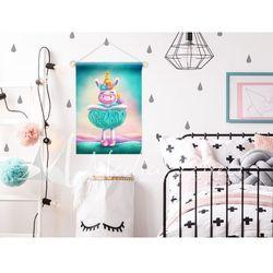 Proporczyk, obrazek, plakat do pokoju dziecka, turkusowa balerina