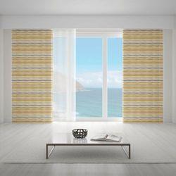 Zasłona okienna na wymiar - LINEAS HORIZONTALES ORO