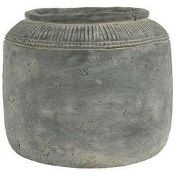 Ib Laursen - Donica cementowa Cleopatra ręcznie robiona ze wzorkiem