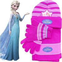 Licencja - disney Komplet - czapka, szalik i rękawiczki frozen - kraina lodu