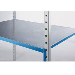 Nakładka stalowa, do regału wtykowego z półkami z rurki, opak. 2 szt., szer. x g