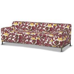 Dekoria Pokrowiec na sofę Kramfors 3-osobowa, żółto-brązowe kwiaty, Sofa Kramfors 3-osobowa, Wyprzedaż do -30%