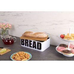 Metalowy chlebak BREAD z bambusową deską do krojenia, 2w1 (8719202470222)