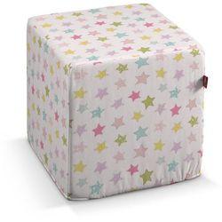Dekoria Pufa kostka, pastelowe gwiazdki na białym tle, 40 × 40 × 40 cm, Little World