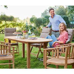 Rozkładany tekowy stół ogrodowy - sprawdź w wybranym sklepie