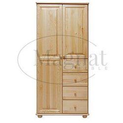 Szafa drewniana 2D nr3 wieszak/półki S90