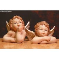 Dwa ceramiczne aniołki Ozdoby Świąteczne