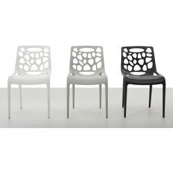 Beliani Zestaw do jadalni 2 krzesła białe morgan (4260602370956)