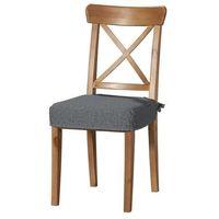Dekoria Siedzisko na krzesło Ingolf, szary z jasną nitką, krzesło Inglof, Living