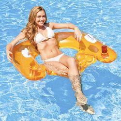 Fotel materac do pływania 152 x 99 cm INTEX 58859 - Pomarańczowy (6941057458595)