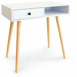 Modernhome Biurko, toaletka kosmetyczna, szuflada, biała, , 77 cm
