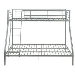 Łóżko piętrowe elevatio iii - 90 i 140 × 190 cm - srebrny marki Vente-unique