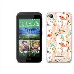 Fantastic case - htc desire 320 - etui na telefon fantastic case - różowe flamingi, marki Etuo.pl