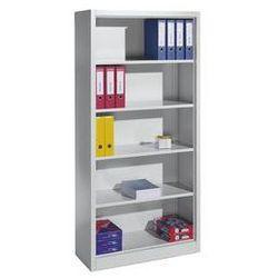 Regał biurowy, stal,4 półki
