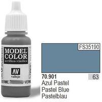 Vallejo Farba Nr63 Pastel Blue Matt 17ml - produkt z kategorii- Farby modelarskie