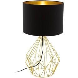 Druciana LAMPA stołowa PEDREGAL 1 95186 Eglo abażurowa LAMPKA stojąca drut czarna, kolor Czarny