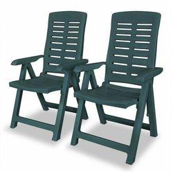 Elior Vidaxl rozkładane krzesła ogrodowe, 2 szt., plastikowe, zielone