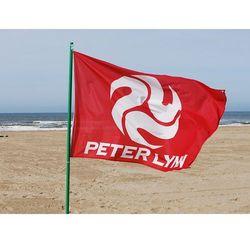 Czerwona flaga prostokątna marki Peter lynn
