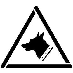 Szablon do malowania znak ostrzeżenie zły pies gw013 - 17x20 cm marki Szabloneria